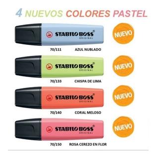 Stabilo Boss Pastel 4 Nuevos Tonos, Originales