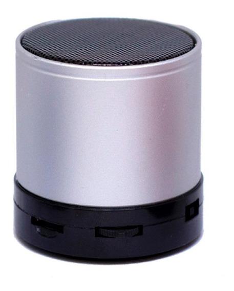 Mini Caixa De Som Bluetooth Sd Usb Radio Fm Mp3 Cinza