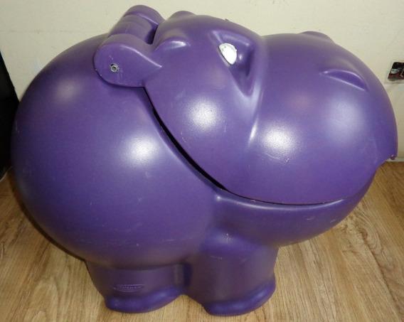 Baú Organizador Hipopótamo Roxo Xalingo - Com Detalhes