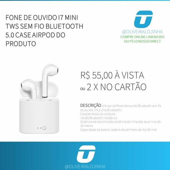Fone I7 Mini Sem Fio Bluetooth 5.0
