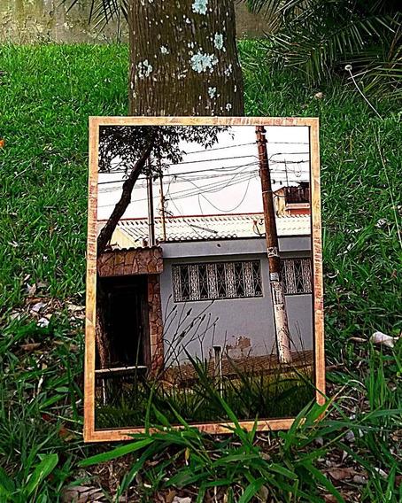 Espelho 3 Mm 37 X 50 Cm C/ Moldura - Exclusividade Em Oferta