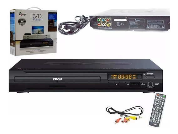Dvd Player Com Entrada Usb Mp3 Karaoke + Controle Knup
