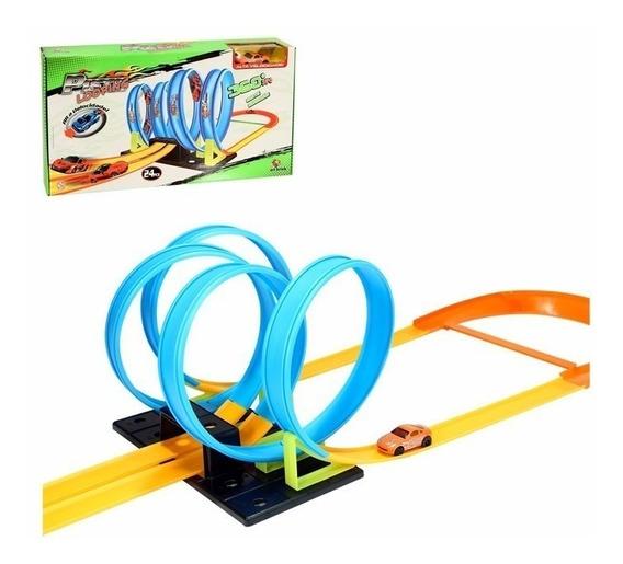 Pista Looping 360º Infantil Tipo Hot Wheels + Carrinho