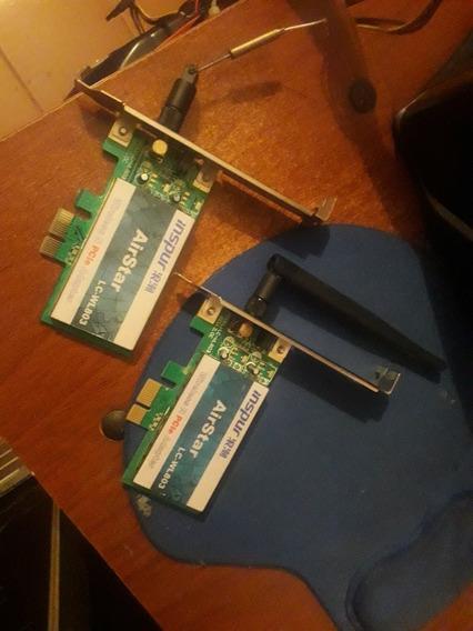 Tarjetas De Wifi Pci Con Antena