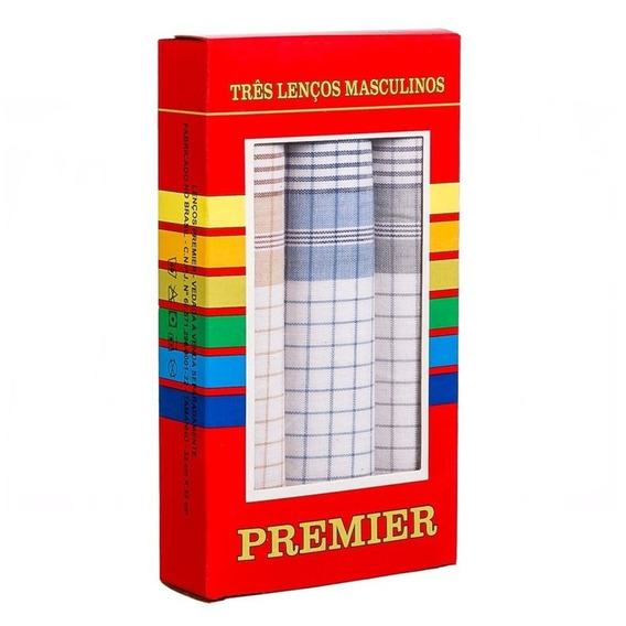 Lenços De Bolso Masculino Premier Colorido - 1 Caixa