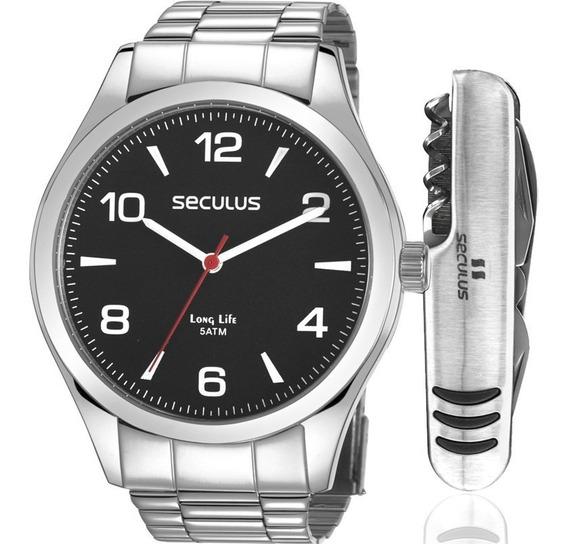 Relógio Masculino Seculus Kit Canivete 28974g0svna1kz