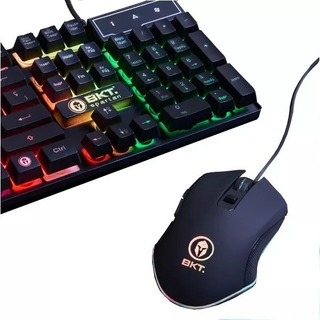 Teclado Gamer Luz Simil Mecanico + Mouse Dpi 3200 Pc Ps4