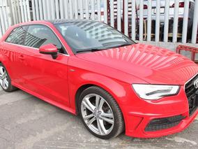 Audi A3 1.8 S-line Aut Rojo 2016