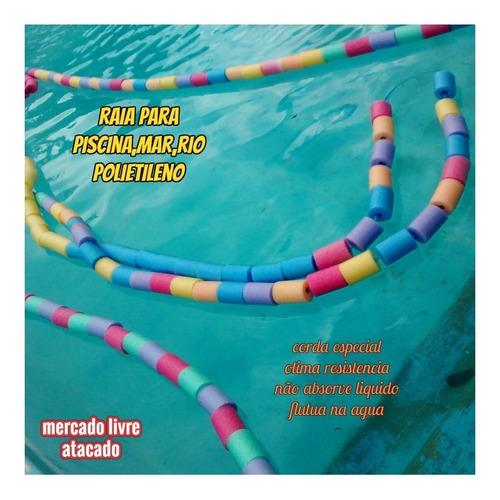 Raia Flutuante P/piscina Natação Competição Mar Kit C/25mts
