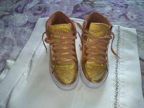 Tenis Dourado 34