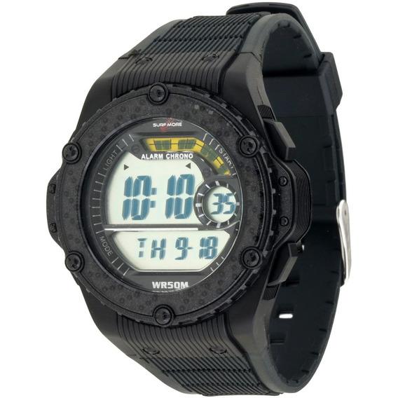 Relógio Masculino Digital Surfmore 6526491m Pr - Preto Fundo