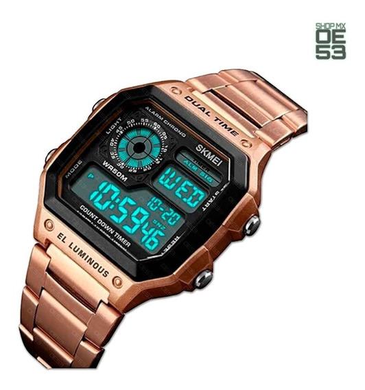 Oe53 Reloj Casual Resistente Agua Crono Deportivo Skmei 1335