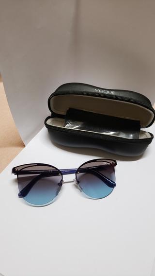 Óculos Sol Vogue 4089 Vo4089s Azul Roxo Original Sunglasses