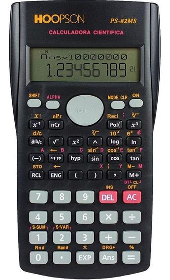 Calculadora Científica - 240 Funções Ps-82ms Promoção Black