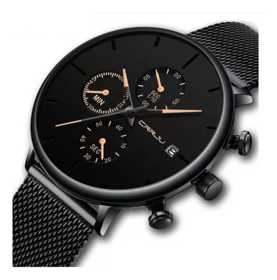 Relógio Masculino Crrju 2268. Cronógrafo E Calendário. Luxo Casual Social