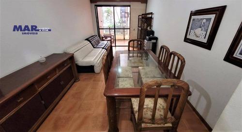 Imagem 1 de 13 de Apartamento À Venda No Guarujá, Na Praia Das Pitangueiras, Próximo Da Praia, 100 Metros De Área Útil, Sacada E 02 Vagas De Garagem - Ap11265