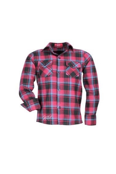 Camisa Infantil Alfa Tecido Algodão Xadrez Junino - Cor 02