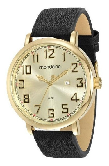 Relógio Masculino Pulseira De Couro Mondaine 83354gpmvdh2