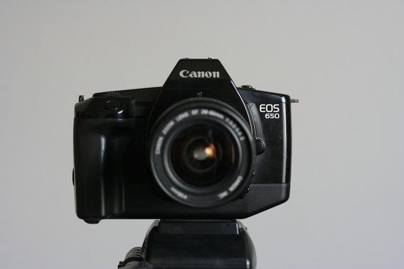 Corpo De Câmera Analógica Canon Eos 650 Funcionando.
