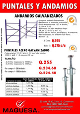 Puntales Galvanizados Los Mejores Precios Certificados