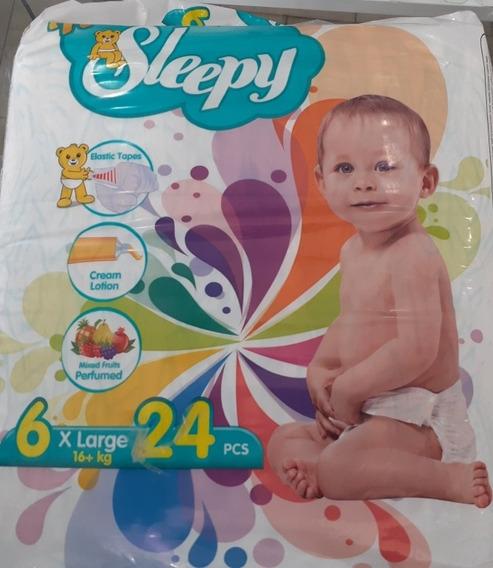 Pañales New Sleepy Etapa 6 De 16+ Kg, 24 Pcs.
