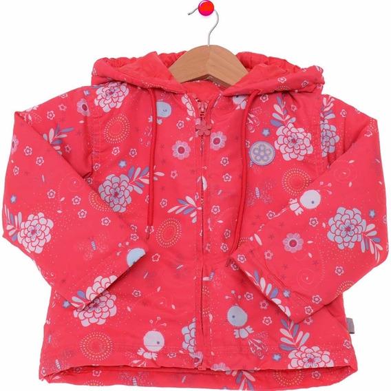 Casaco Jaqueta Infantil Para Menina Rosa Pink Tamanho 2