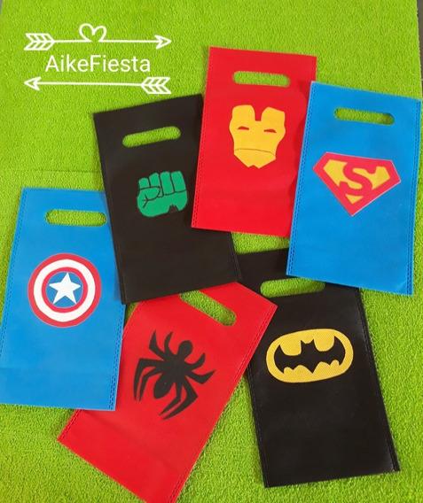 Bolsitas De Friselina..superheroes,pj Mask (pack 30)