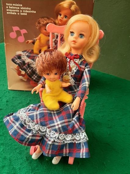 Susi Antiga Boneca Estrela Naninha Completa Bebe Amarelo