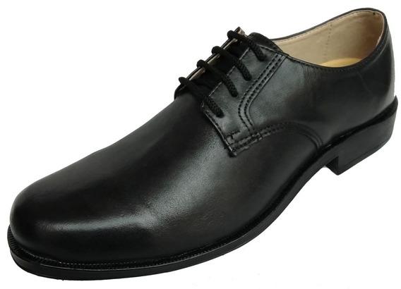 Zapatos De Hombre Cuero Natural, Base Goma