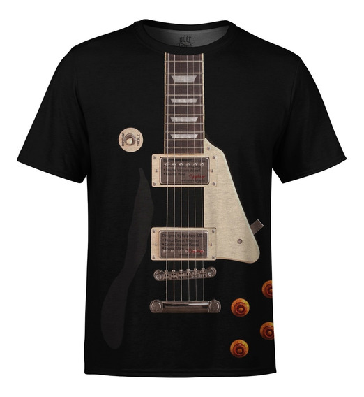 Camiseta Masculina Guitarra Les Paul Md01