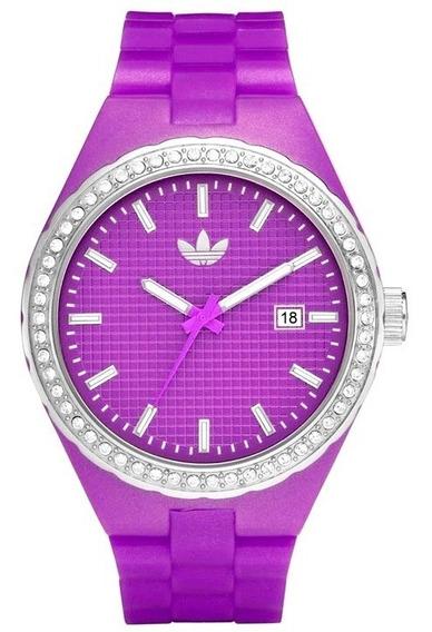 Relógio De Pulso adidas Adh2104n Roxo Feminino Original