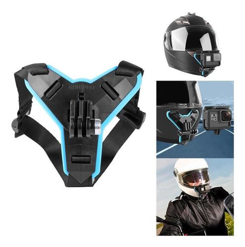 Imagen 1 de 7 de Soporte Para Casco De Motocicleta Para Gopro Hero 9 8 7 5