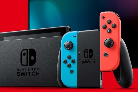 Console Nintendo Switch 32 Gb Neon Red/blue Novo Modelo+nfe