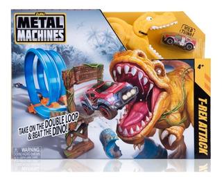 Pista De Autos Metal Machine T-rex Attack Babymovil 6702