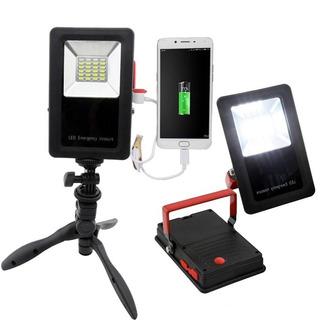 Holofote Led Portatil De Emergencia Com Carregador Powerbank
