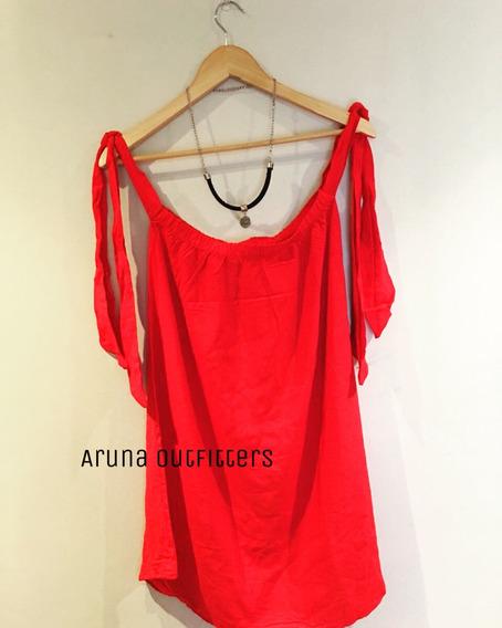 Vestido Largo Medio Rojo Vestir Fiestas Verano Fresco