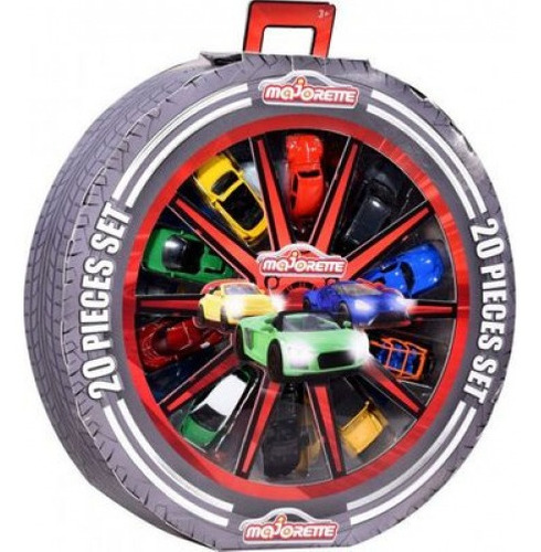 Imagem 1 de 2 de Majorette Wheel Conjunto Com 20 Peças 1/64