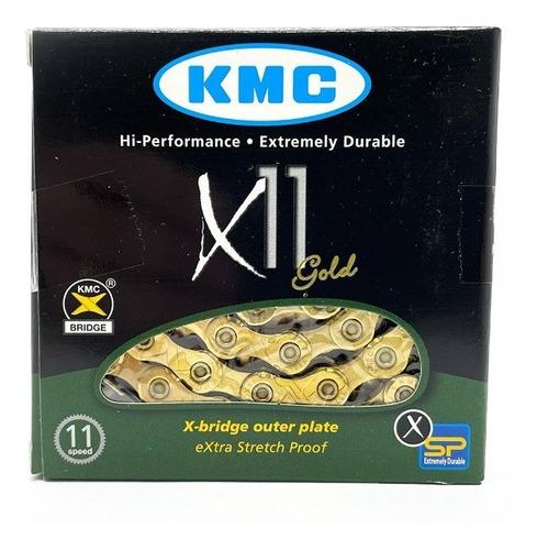 Imagem 1 de 3 de Corrente Kmc X11 Gold Dourada 116l 11v Shimano Sram