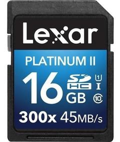 Cartão Memória Lexar Platinum Ii 300x Sd 16gb