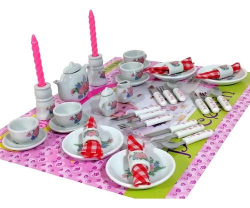 Cuatro servilleteros con servilletas porcelana miniatura casa de muñecas