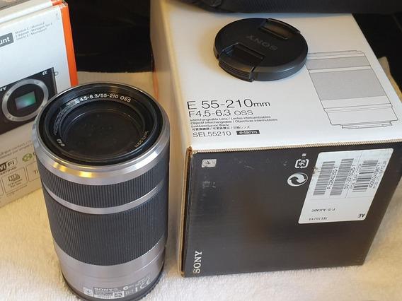 Câmera Sony Alpha 6000 Com Lentes 16-50mm E Zoom 55-210mm