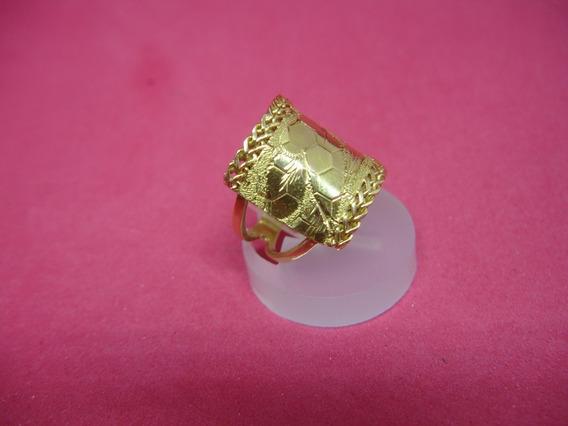 Anel Em Ouro Amarelo 18k/750 Peso 4.9 Gramas