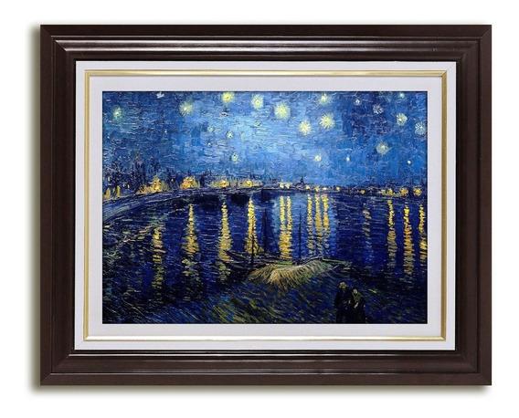 Quadro Noite Estrelada Sobre Rodano Van Gogh Arte Loja Sa Kp