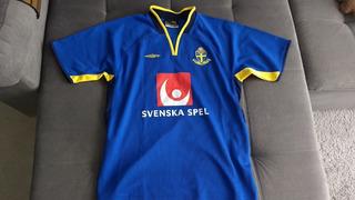 Camisa Centenario Da Seleção Da Suécia Obtida No Treinamento