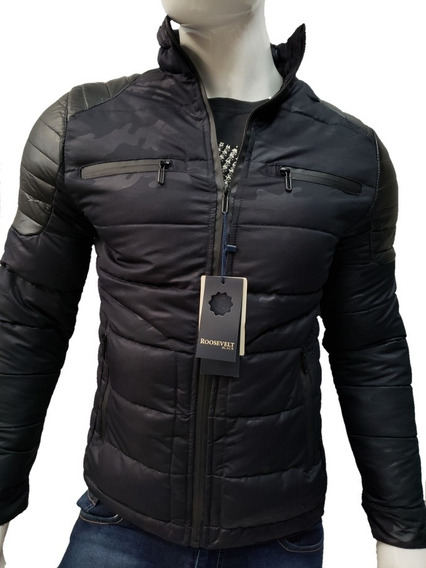 Chamarra Camuflaje Termica Impermeable Slim Fit Tipo Biker