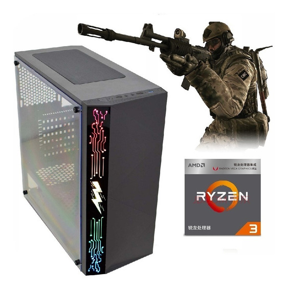 Pc Gamer Ryzen3 3200g Vega Granphis8+ 16gb Ram+hd1tb+ 500w