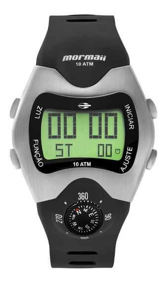 Relógio Mormaii Masculino Mo1324ab/1p Digital Bússola Retro