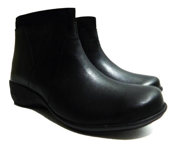 Botineta Cuero Negro- Calzados Unión- Art 354