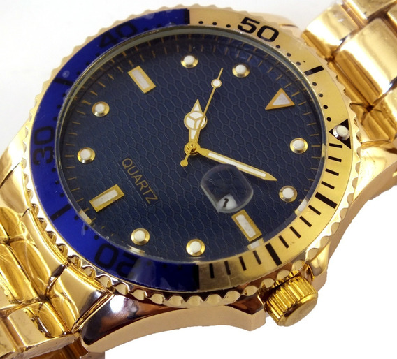 Relógio De Pulso Masculino Quartz Pulseira Metal B5693