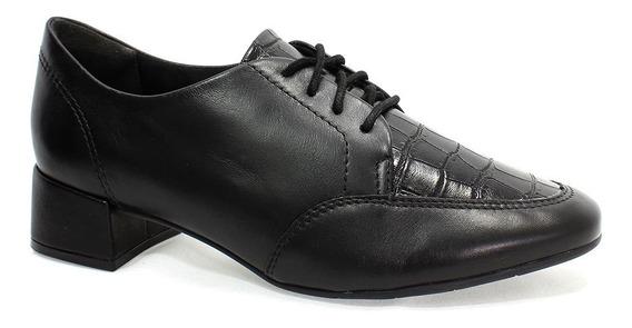 Sapato Comfortflex Oxford Feminino Preto